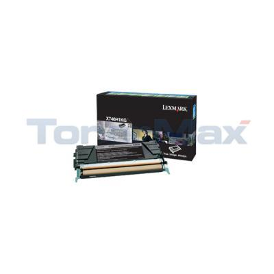 LEXMARK X746 TONER CARTRIDGE BLACK RP HY